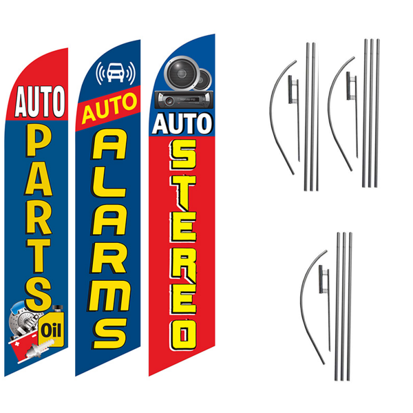 AUTO-PARTS-AUTO-ALARMS-AUTO-STEREO-MECHANIC-SHOP-FEATHER-FLAGS-GREAT-FOR-AUTO-SHOPS-