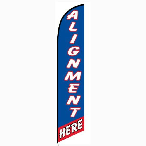 Alignment Here Blue and Red Feather Flag FFN-5116