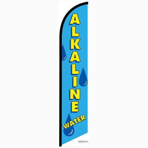 Alkaline Water feather flag