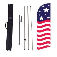 Patriotic American medium 6ft Banner Flag
