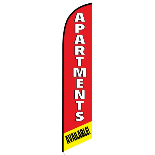 Apartments available feather flag
