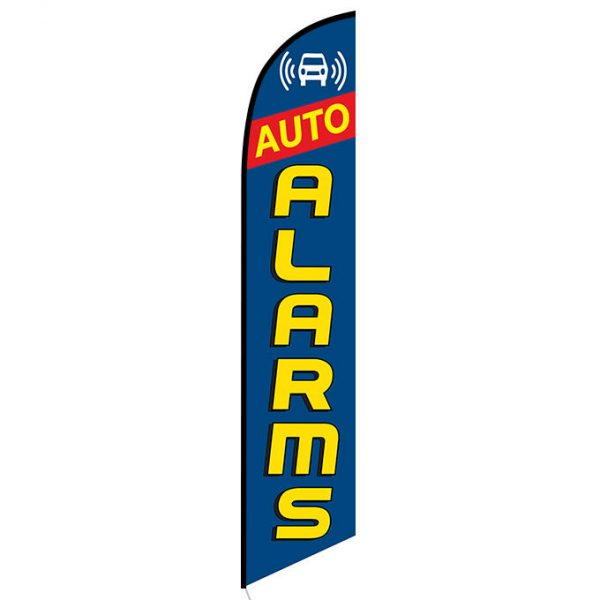 Auto Alarms blue Banner Flag FFN-5445 front
