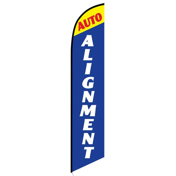Auto Alignment Blue and Yellow Banner Flag FFN-5284 front