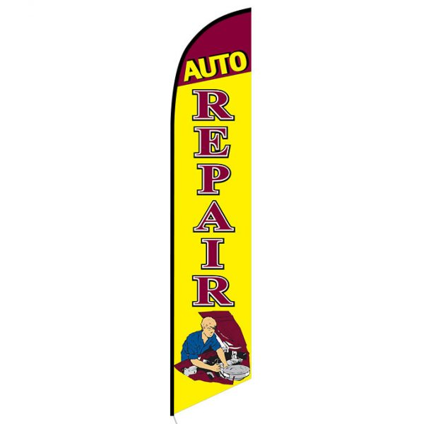 Auto Repair Mechanic Banner Flag FFN-5234 front