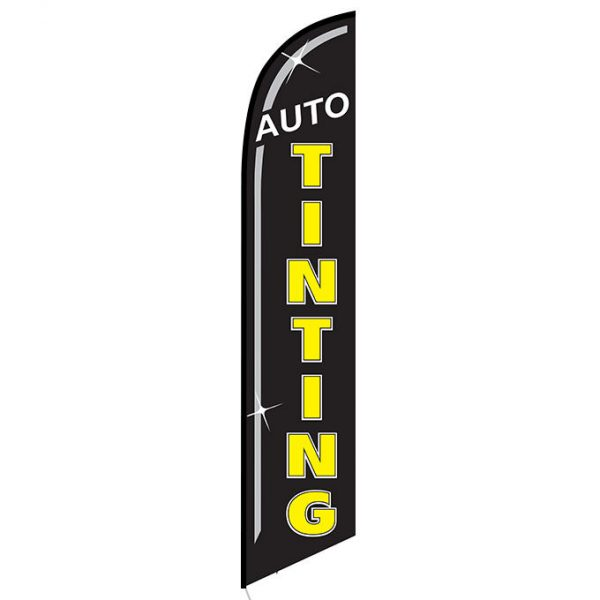 Auto Tinting black Banner Flag FFN-5443 front