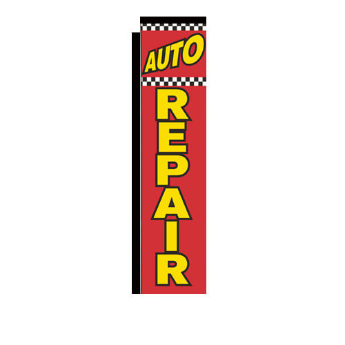 auto repair rectangle flag