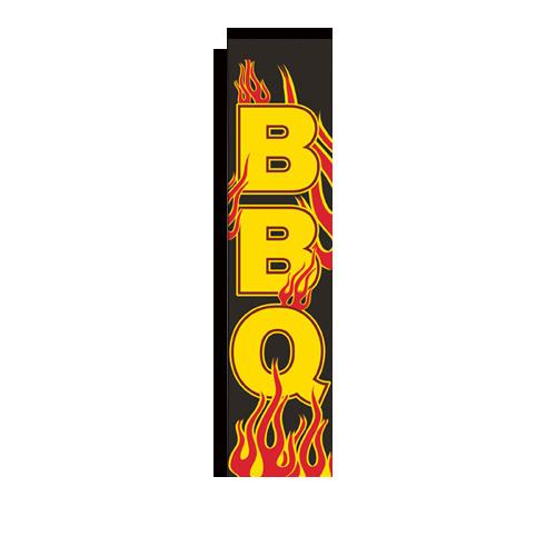 bbq flames rectangle flag