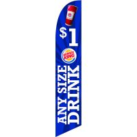 BK Any Size Drink 02 Feather Flag Kit with Ground Stake