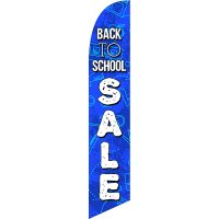 Back To School Feather Flag Kit with Ground Stake