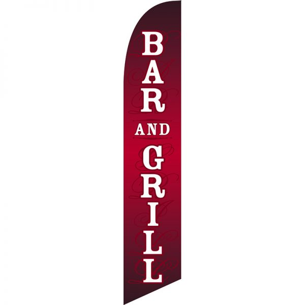 Bar And Grill Feather Flag