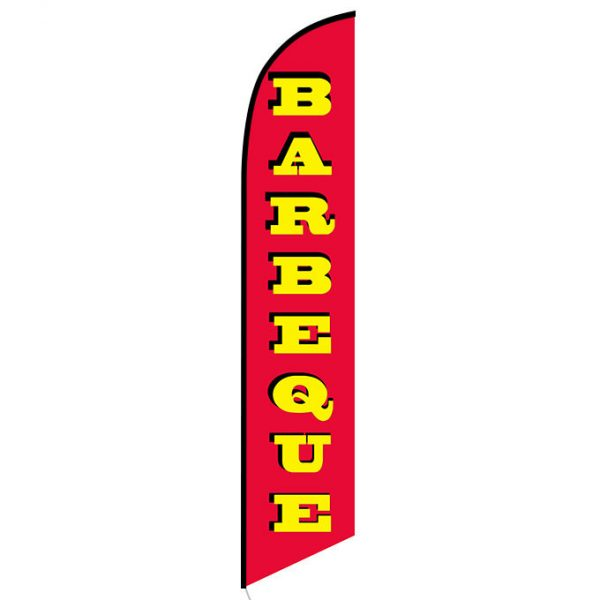 Barbeque Feather Flag