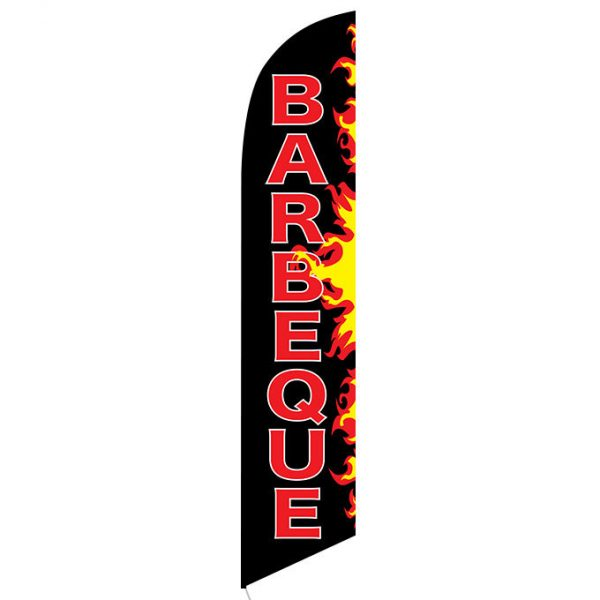 Barbeque Flames Feather Flag