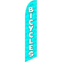 Bicycles Blue Feather Flag Kit with Ground Stake