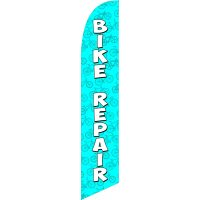 Bike Repair Blue Feather Flag Kit with Ground Stake