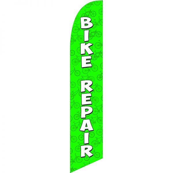 Bike Repair Green Feather Flag