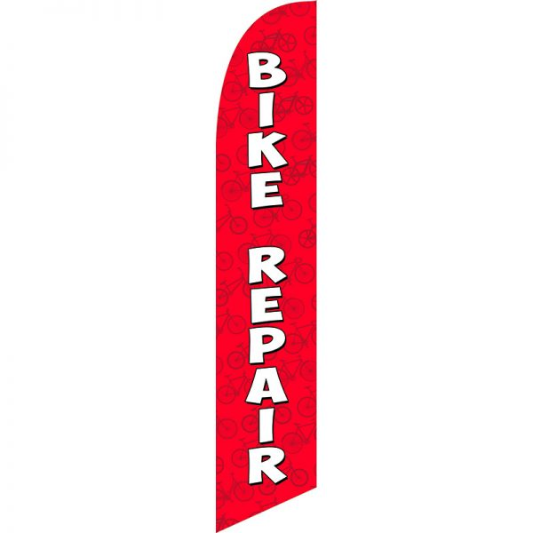 Bike Repair Red Feather Flag