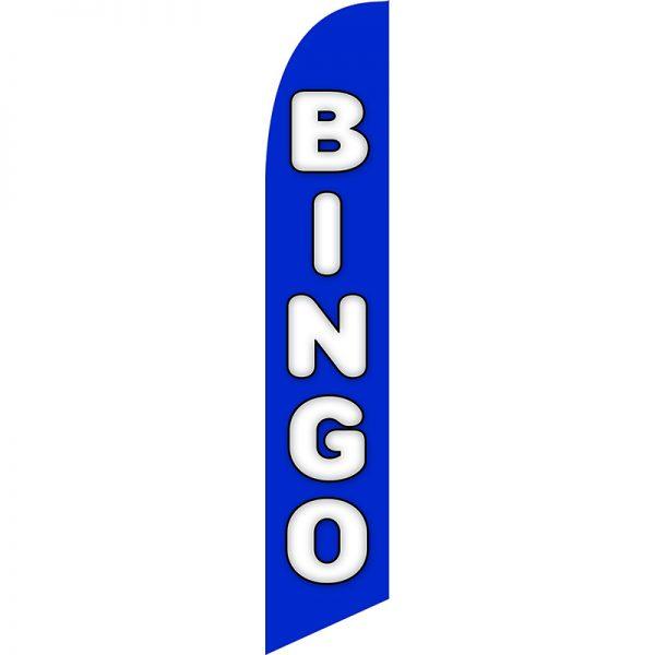 Bingo Blue Feather Flag