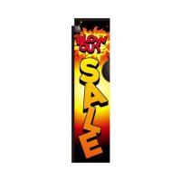 Blow-out Sale black rectangle flag
