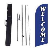 Welcome blue 6ft Feather Flag