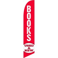 Books Used New Feather Flag