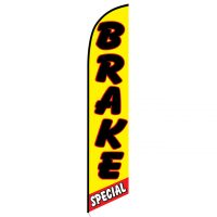 Brake Special yellow and red Feather Flag FFN-5111 front