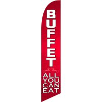 Buffet All You Can Eat Feather Flag Kit with Ground Stake