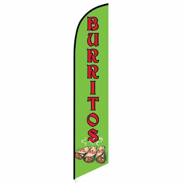 Burritos Feather Flag