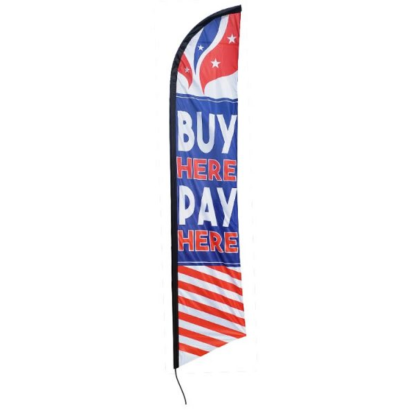 Buy Here Pay Here Feather Flag FFN-5848