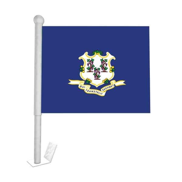 Connecticut State Car Flag