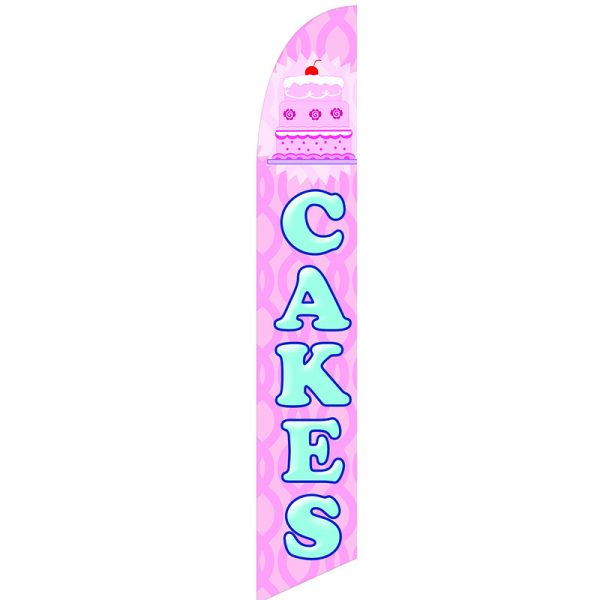 Cakes Feather Flag