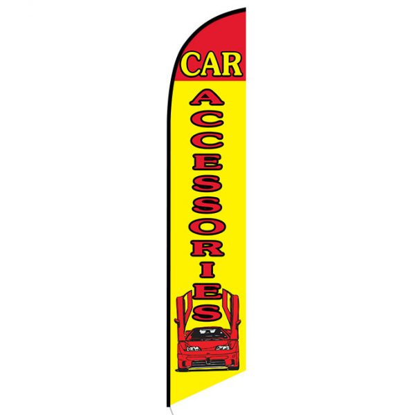 Car Accessories Yellow and Red Feather Flag FFN-5156 front