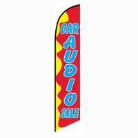 Car Audio Sale Red and Yellow Feather Flag FFN-5115