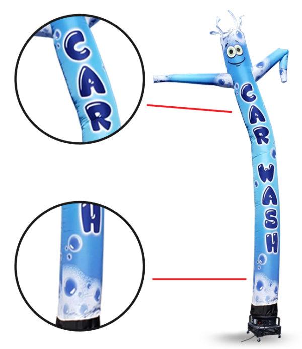 Car wash-bubbles-air-inflatable-tube-man-18ft-details