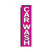 pink Car Wash rectangle flag