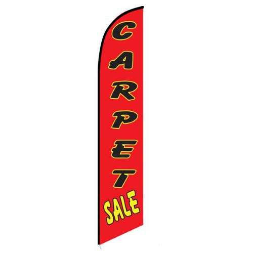 Carpet Sale red feather flag