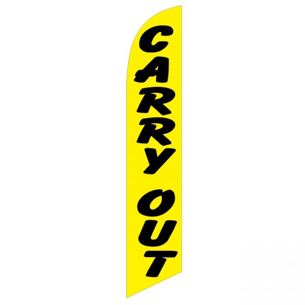Carry Out Feather Flag - FFN-99927