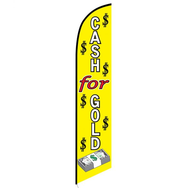 Cash for gold feather flag