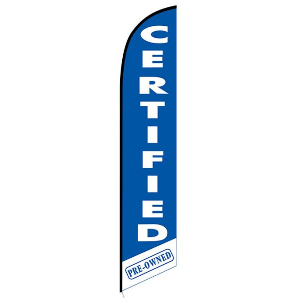Certified Pre-owned blue feather flag