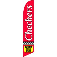 Checkers Feather Flag Kit with Ground Stake