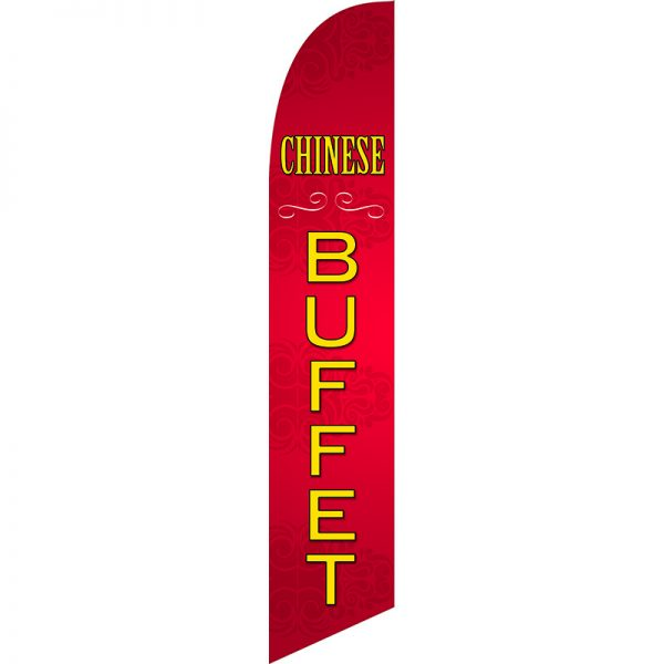 Chinese Buffet Feather Flag