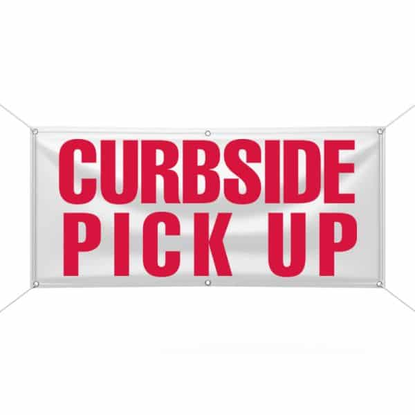 Curb Side Pick Up Banner