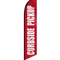 Curbside Pickup Feather Flag FFN-CP-02451