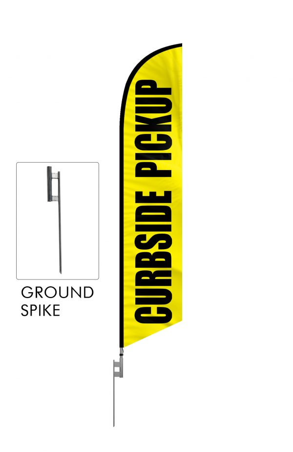 Curbside Pickup Feather Flag Single Sided_FFN-CP-02452 ground spike