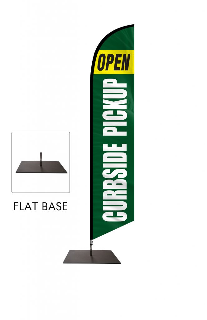 Curbside Pickup Feather Flag Single Sided_FFN-CP-02453 Flat Base