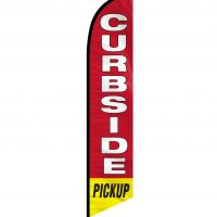 Curbside Pickup Feather Flag FFN-CP-02454