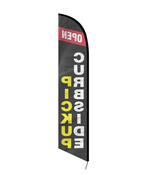 Curbside Pickup Feather Flag Single Sided_FFN-CP-02455 Back Side