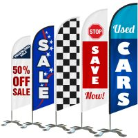 Double-Sided Custom Feather Flag Sale, Wholesale Prices Direct, 5ft Custom Banner Flag