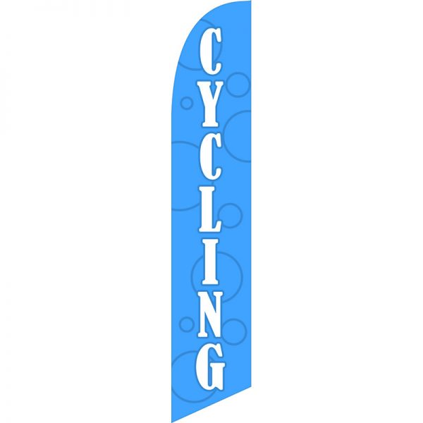 Cycling Feather Flag