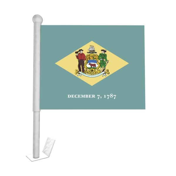 Delaware State Car Flag