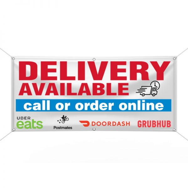Delivery Available Banner
